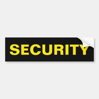 保証-金黄色いロゴのバンパーステッカー バンパーステッカー