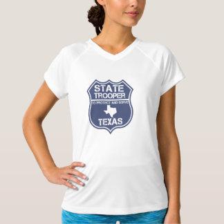 保護し、役立つテキサス州の州警察官 Tシャツ