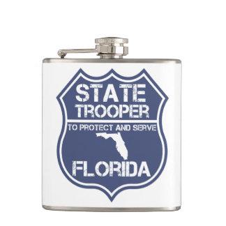 保護し、役立つフロリダの州警察官 フラスク