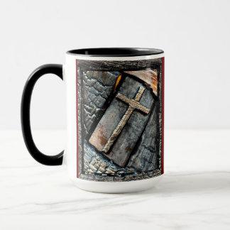 保護の梯子及び十字 マグカップ