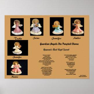 保護者ANGELS-THEのポニーテールのコーラスポスター ポスター
