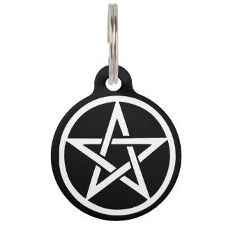 保護魔法使いのよく知られた星形五角形のペットタグ ペット ネームタグ