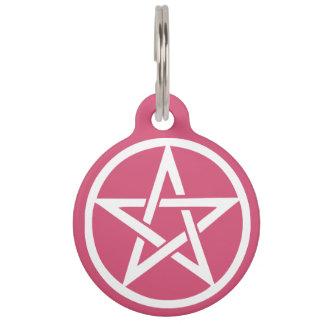保護魔法使いの星形五角形のペットタグ ペット ネームタグ