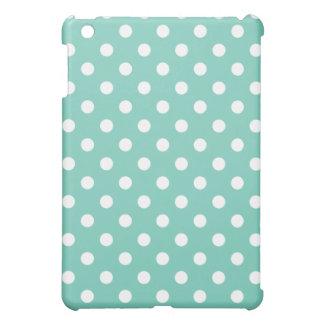 保護iPad Miniケース-ターコイズの水玉模様 iPad Miniケース