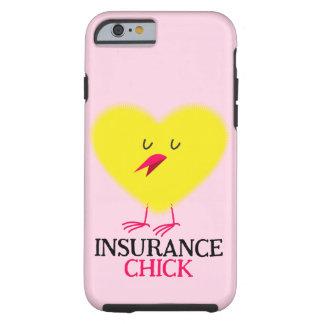 保険のひよこのグラフィックとのピンクのiPhone 6/6sの場合 ケース