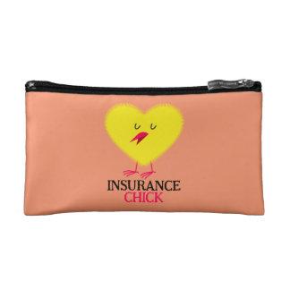 保険のひよこのジッパーの袋 コスメティックバッグ