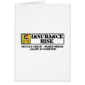 保険の危険-スカルのひび-骨の壊れ目 カード