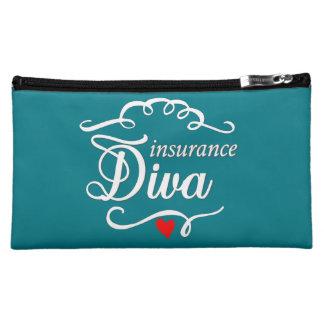 保険の花型女性歌手の中型の化粧品のバッグ