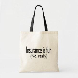 保険は実際におもしろいではないです トートバッグ
