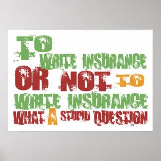 保険を書くため ポスター
