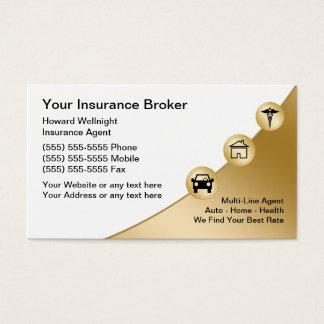 保険仲介人の名刺 名刺