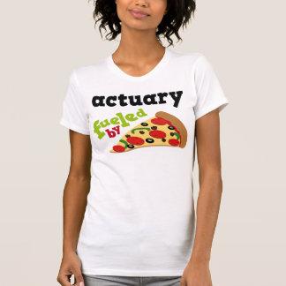 保険計理人の(おもしろいな)ピザ Tシャツ