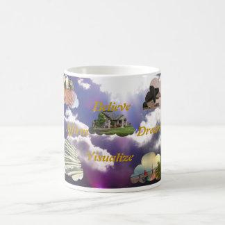 信じて下さい、断言して下さい、夢を見て下さい、視覚化して下さい コーヒーマグカップ