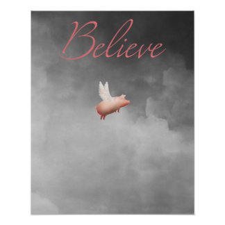 信じ飛行のブタ ポスター