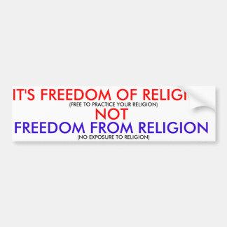 信仰の自由 バンパーステッカー