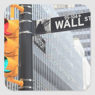 信号およびウォールストリートの印 スクエアシール