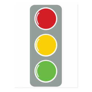 信号の赤い緑のこはく色 ポストカード