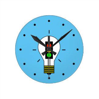 信号の電球 ラウンド壁時計