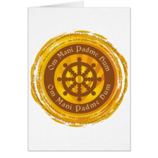 信念のDharmaのチベットの車輪 カード