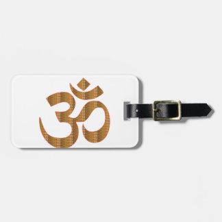 信念のOmMantraのヨガの黙想の詠唱のヒンズー教gif ラゲッジタグ