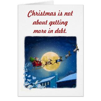 信用の挨拶状のクリスマス カード