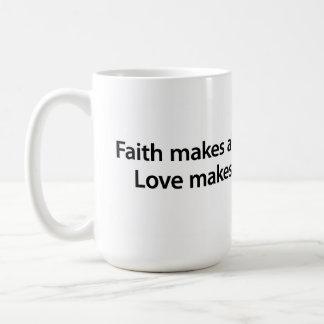 信頼および愛… コーヒーマグカップ