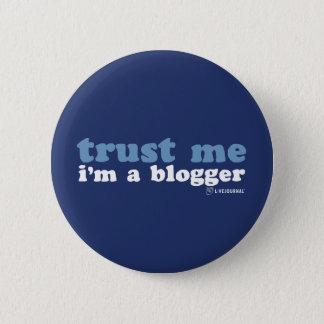 信頼して下さい私を、私ありますブロガー(LiveJournal)が 5.7cm 丸型バッジ