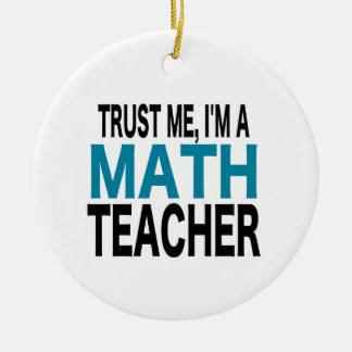信頼して下さい私を、私あります数学の教師(青い版)が セラミックオーナメント