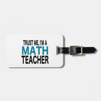 信頼して下さい私を、私あります数学の教師(青い版)が ラゲッジタグ