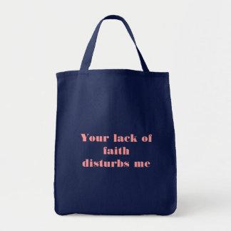 信頼のあなたの欠乏は私を妨げます トートバッグ