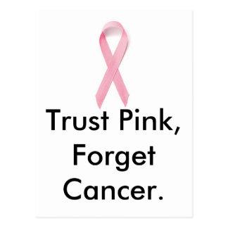 信頼のピンクは、蟹座を忘れます ポストカード