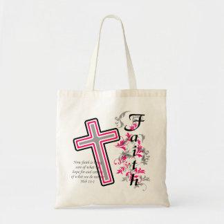 信頼の十字のクリスチャン トートバッグ