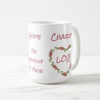 信頼の希望の慈善1のCorinthiansの13:13 コーヒーマグカップ