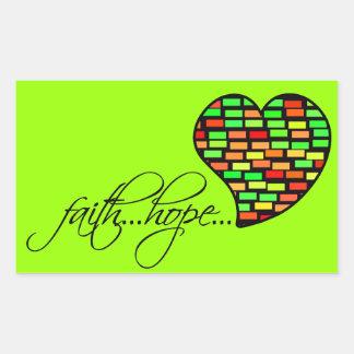 信頼の希望愛ハート1のCorinthiansの13:13 長方形シール
