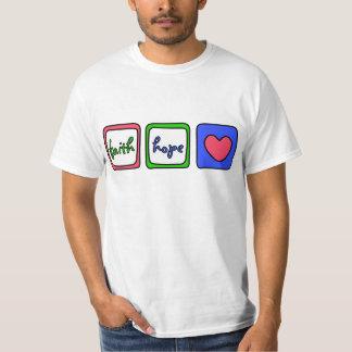 信頼の希望愛ハート1のCorinthiansの13:13 Tシャツ
