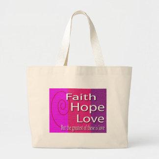 信頼の希望愛バッグ ラージトートバッグ