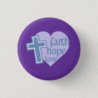 信頼の希望愛ボタン 3.2CM 丸型バッジ