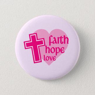 信頼の希望愛ボタン 5.7CM 丸型バッジ