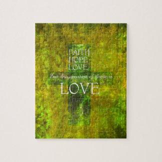 信頼の希望愛聖書の詩 ジグソーパズル