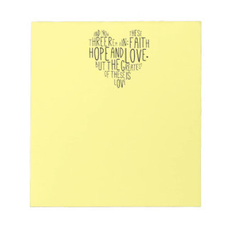 信頼の希望愛1 Corinthiansの13:13 ノートパッド