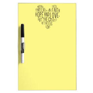 信頼の希望愛1 Corinthiansの13:13 ホワイトボード