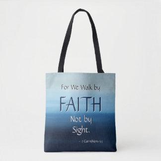 信頼の感動的な聖なる書物、経典のトート トートバッグ