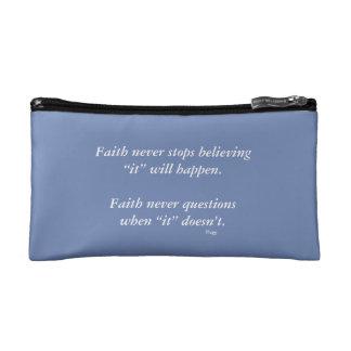 信頼の決して化粧品のバッグw/Blueの十字 コスメティックバッグ