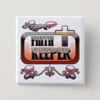 信頼の看守のクリスチャン2インチの正方形ボタン 缶バッジ