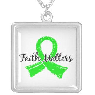 信頼はライム病5重要です シルバープレートネックレス