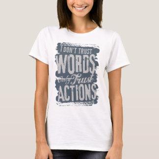 信頼は声明のワイシャツを言い表わします Tシャツ