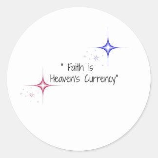 信頼は天国の通貨の星です ラウンドシール