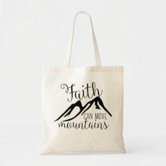 信頼は山を動かすことができます トートバッグ