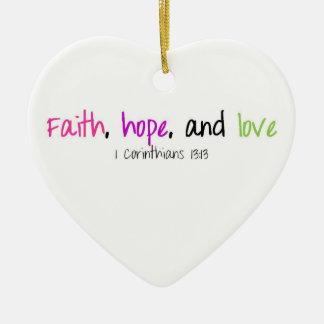 信頼希望および愛オーナメント セラミックオーナメント