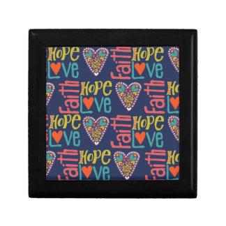 信頼希望および愛単語の芸術 ギフトボックス